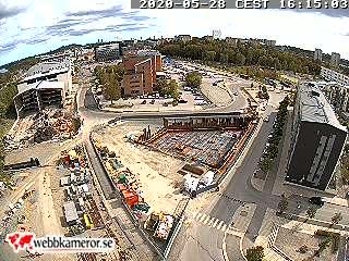 Byggkamera: Stockholm, Solna - Ny kontorsbyggnad